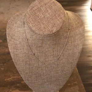 Jewelry - NWT SILVER NECKLACE with cubic zirconias